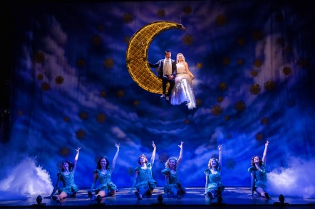 CRAZY FOR YOU. Tom Chambers 'Bobby' and Charlotte Wakefield 'Polly' and Company. Photo: Richard Davenport