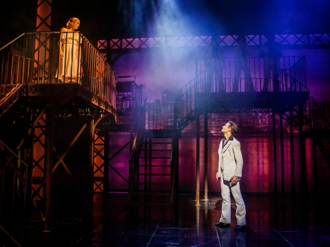 L-R Kate Parr (Stephanie) & Richard Winsor (Tony) - Saturday Night Fever - UK Tour (c) Pamela Raith Photography_086.jpg